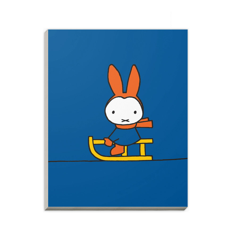Miffy Playing on a Sleigh A6 Notepad