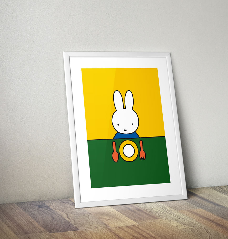Miffy Ready to Eat Framed Mini Poster Framed Mini Poster