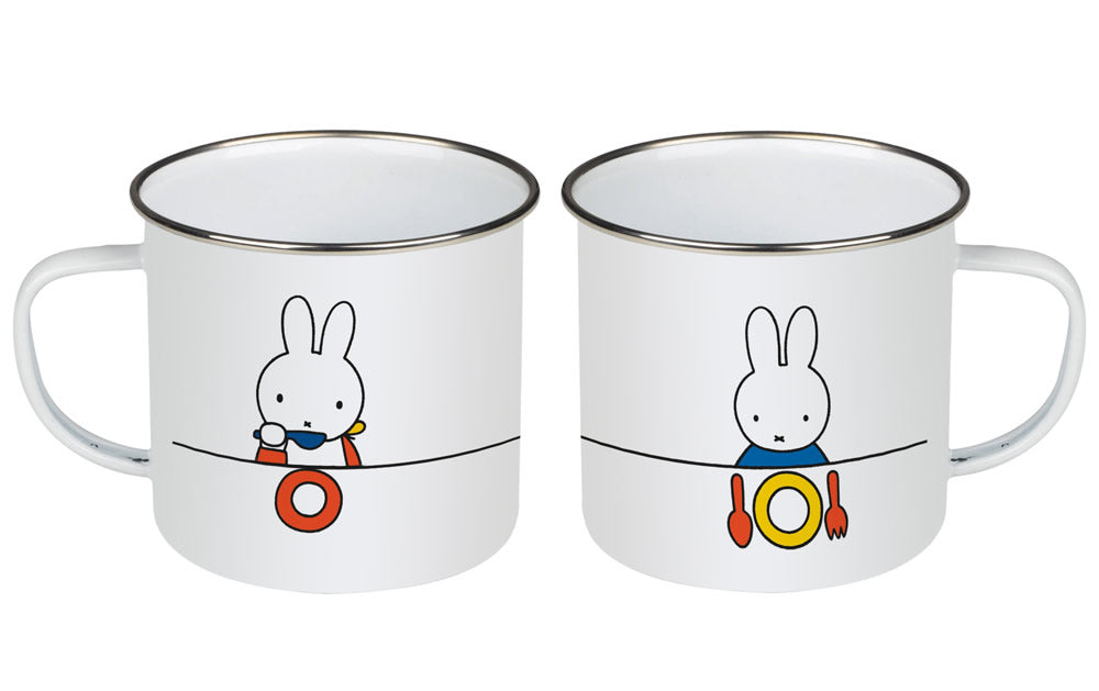 Miffy eating Enamel Mug