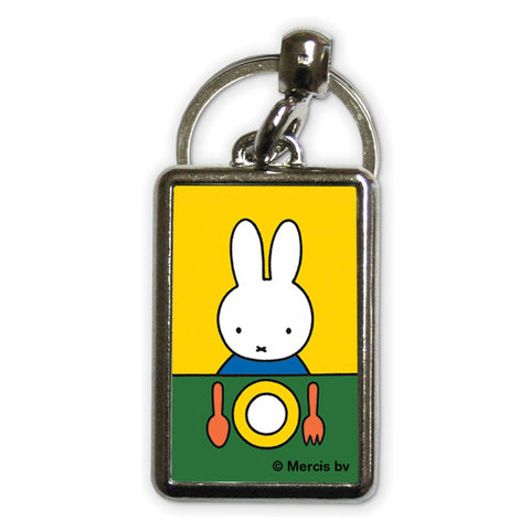 Miffy Ready to Eat Metal Keyring