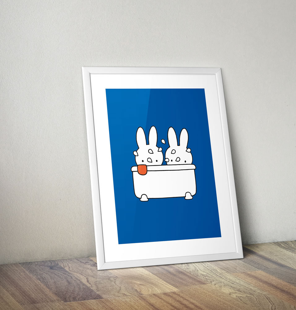 Miffy Taking a Bath Framed Mini Poster Framed Mini Poster
