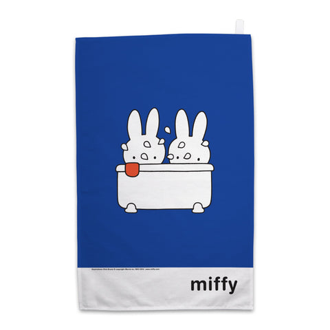 Miffy Taking a Bath Tea Towel