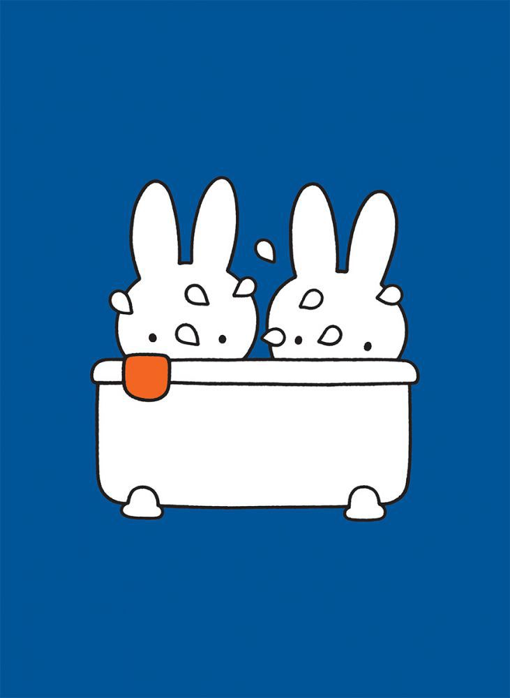 Miffy Taking a Bath Mini Poster Mini Poster