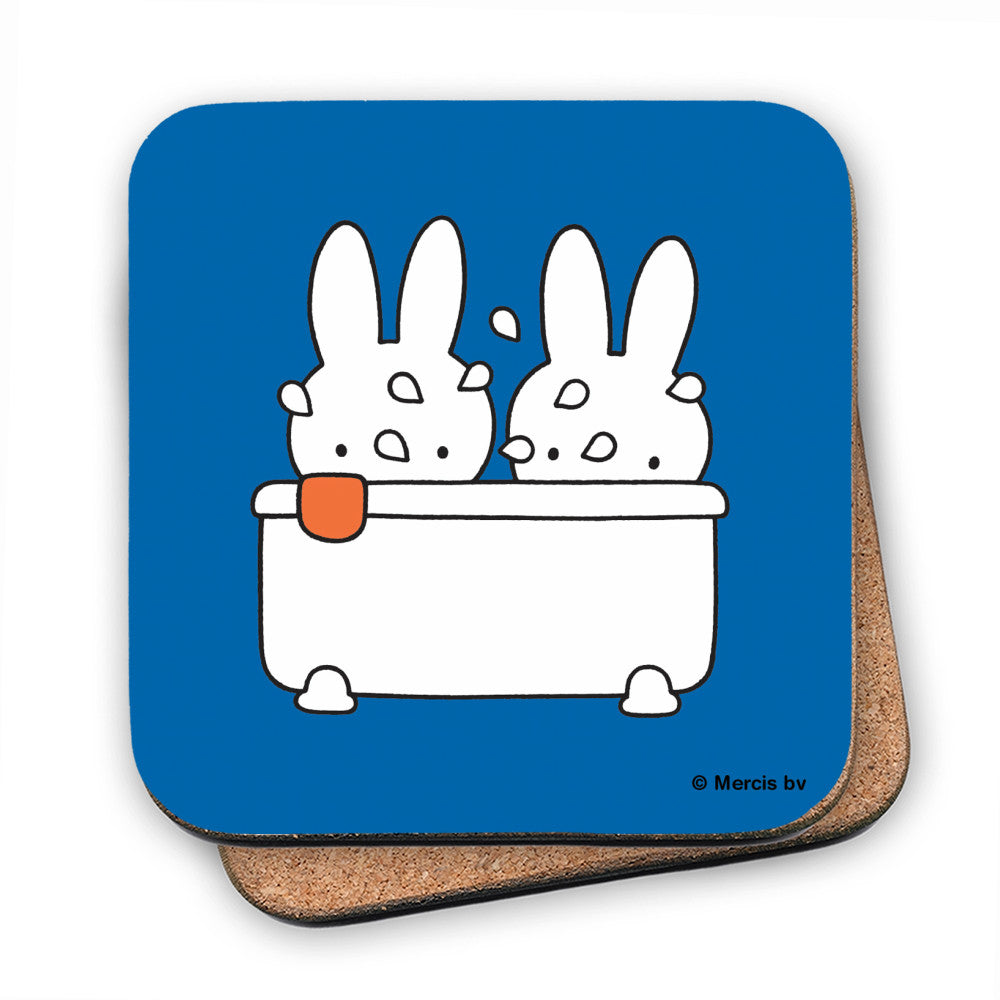 Miffy Taking a Bath Cork Coaster