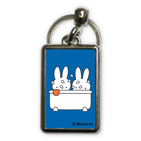Miffy Taking a Bath Metal Keyring