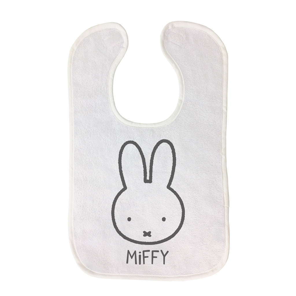 Miffy Face Outline Baby Bib