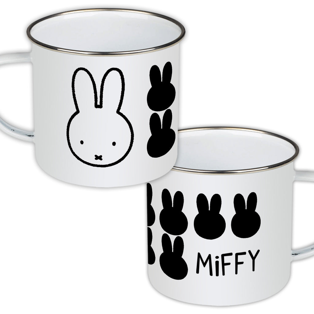 Miffy Face Enamel Mug