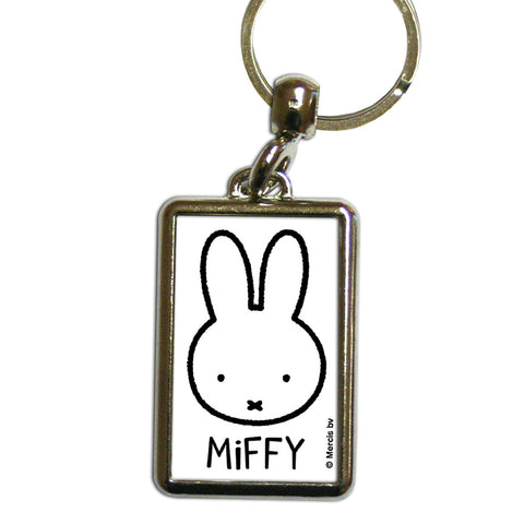Miffy Face Metal Keyring