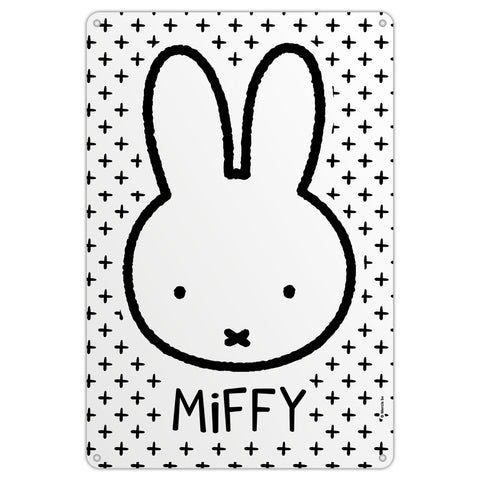 Miffy Face Metal Sign