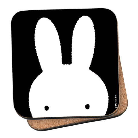 Miffy Face B&W Cork Coaster