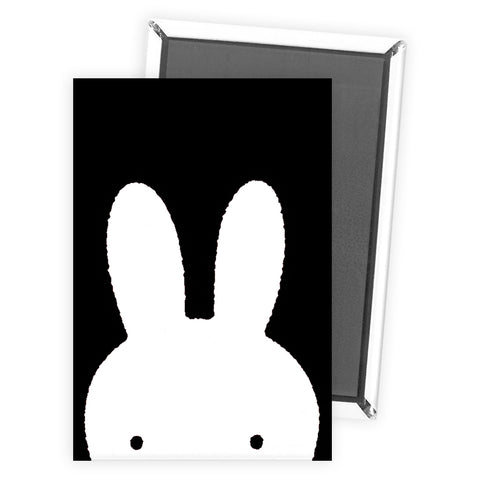 Miffy Face B&W Magnet
