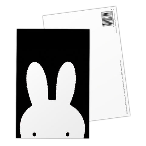 Miffy Face B&W Postcard