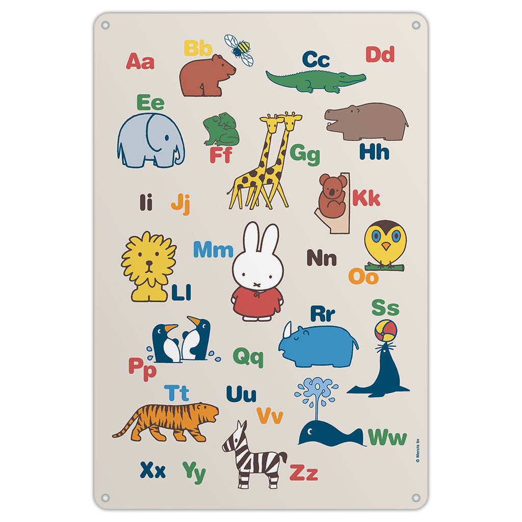 Miffy Alphabet Metal Sign