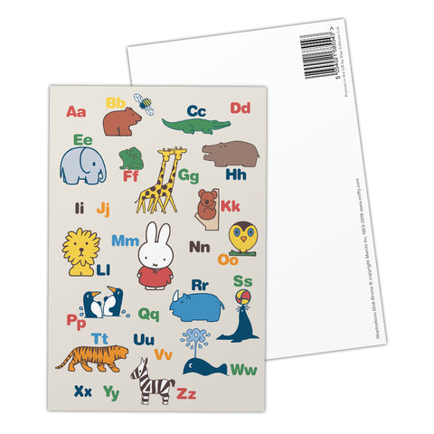 Miffy Alphabet Postcard