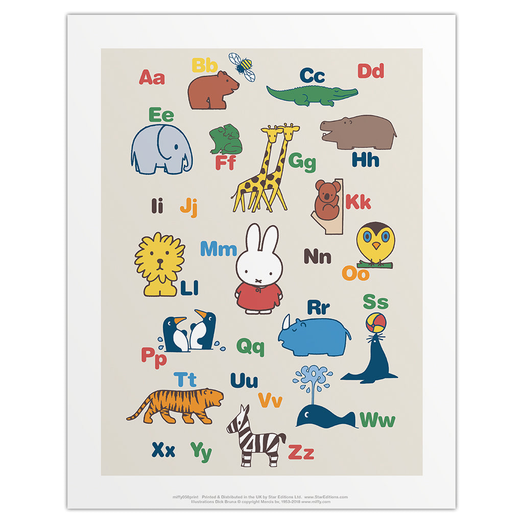 Miffy Alphabet Mini Poster