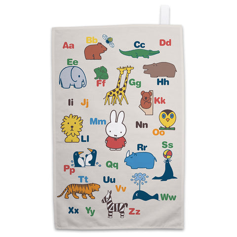 Miffy Alphabet Tea Towel