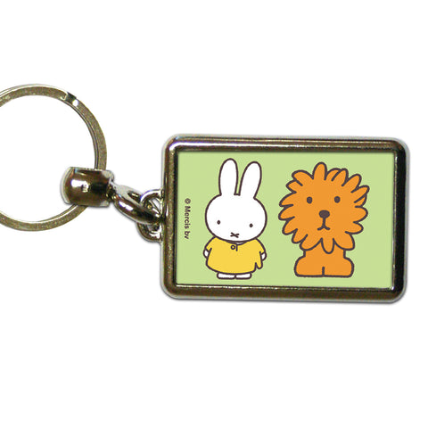Miffy Animals Map Metal Keyring