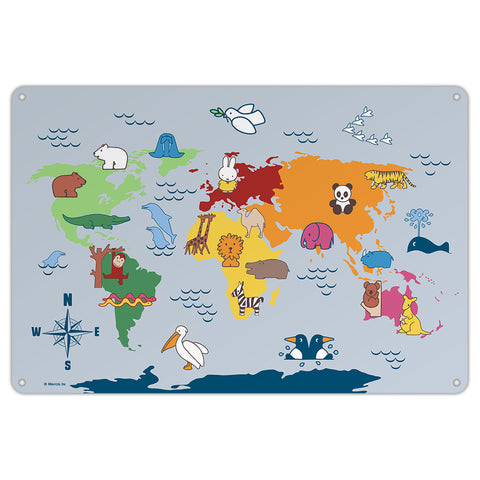 Miffy Animals Map Metal Sign