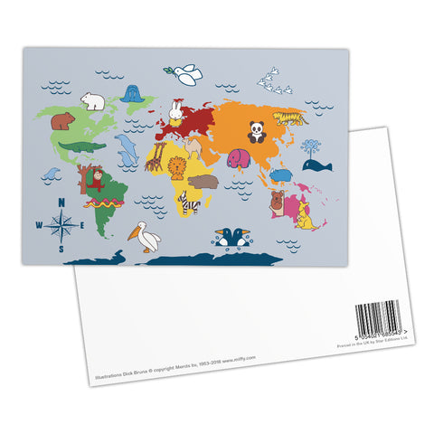 Miffy Animals Map Postcard