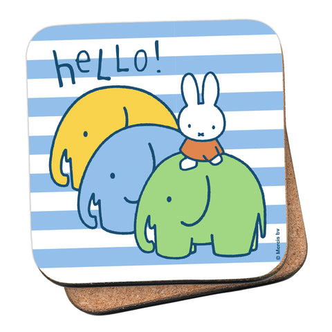 Miffy Elephants Cork Coaster