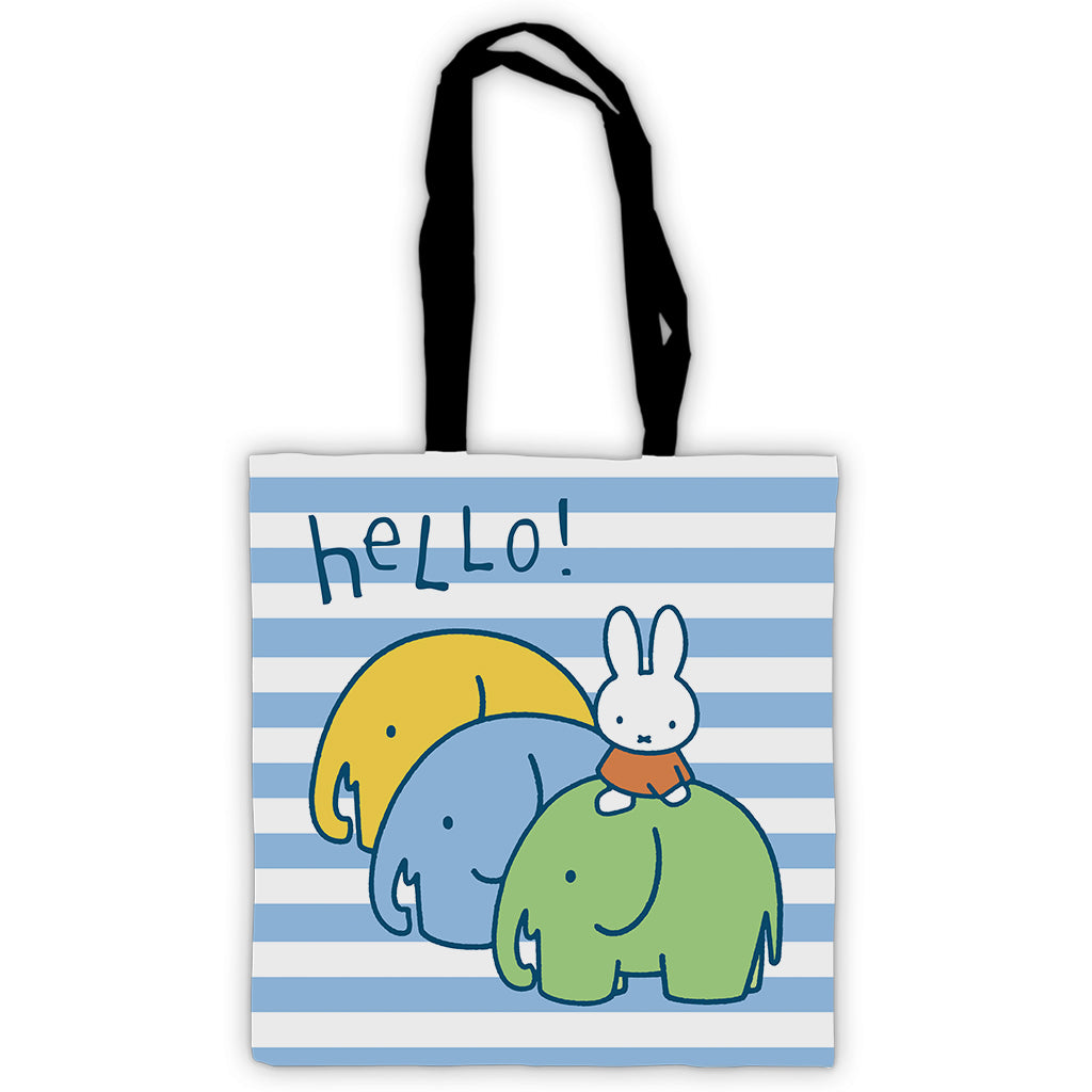 Miffy Elephants Edge to Edge Tote Bag