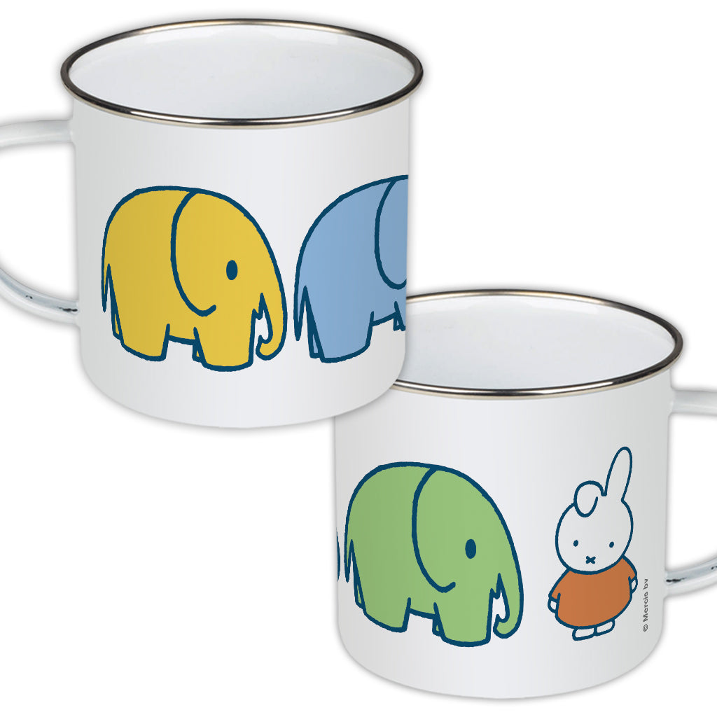 Miffy Elephants Enamel Mug