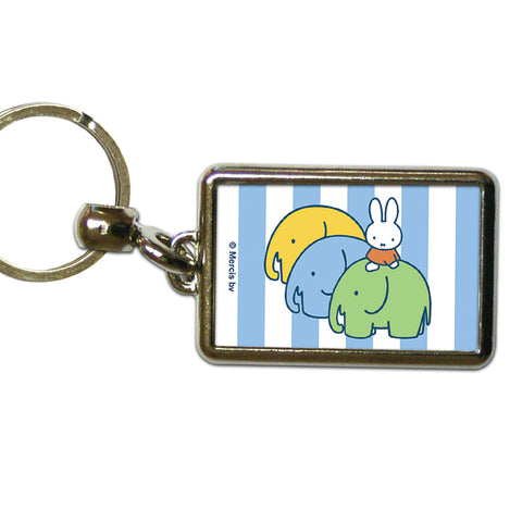 Miffy Elephants Metal Keyring