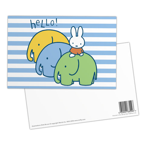 Miffy Elephants Postcard