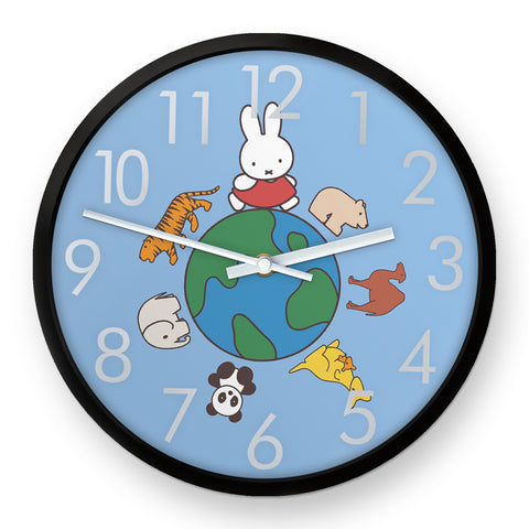 Miffy Animals Globe Clock