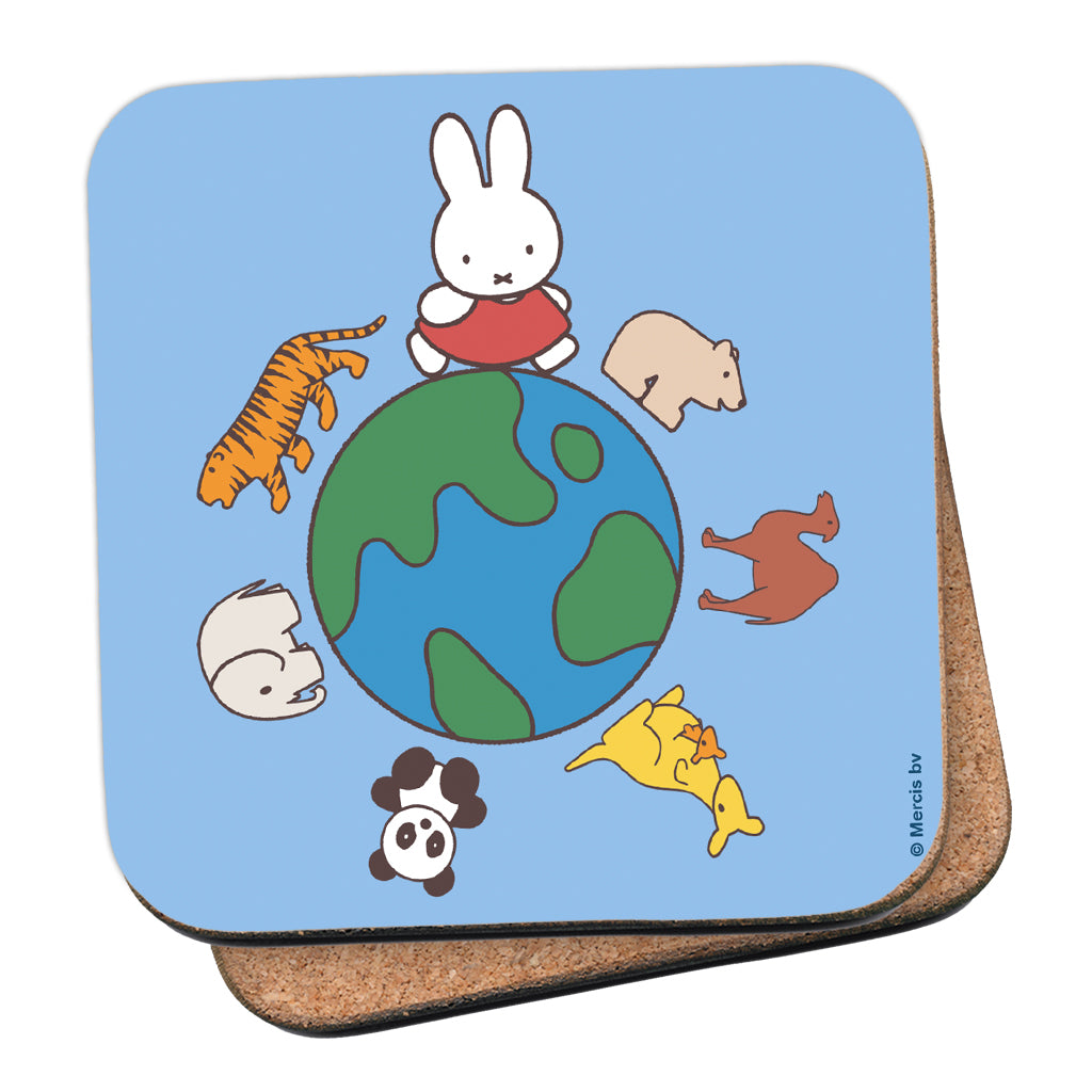 Miffy Animals Globe Cork Coaster