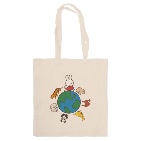 Miffy Animals Globe Tote Bag