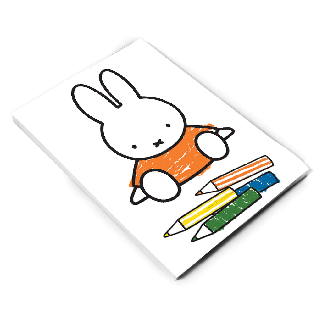 Miffy Colouring Pencils A6 Notepad