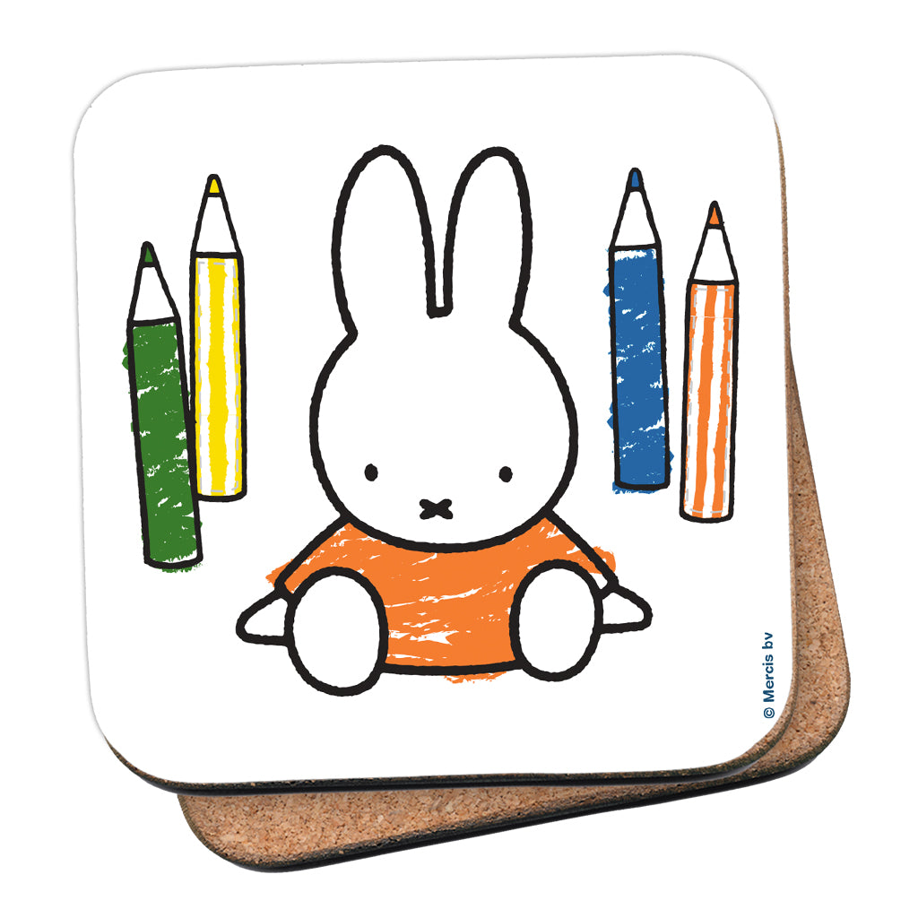 Miffy Colouring Pencils Cork Coaster