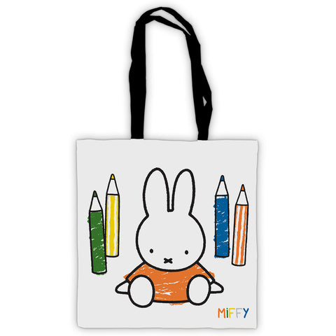 Miffy Colouring Pencils Edge to Edge Tote Bag