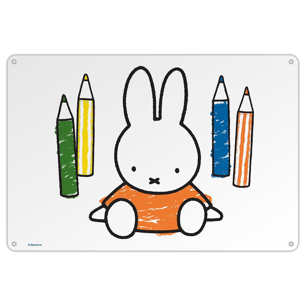Miffy Colouring Pencils Metal Sign