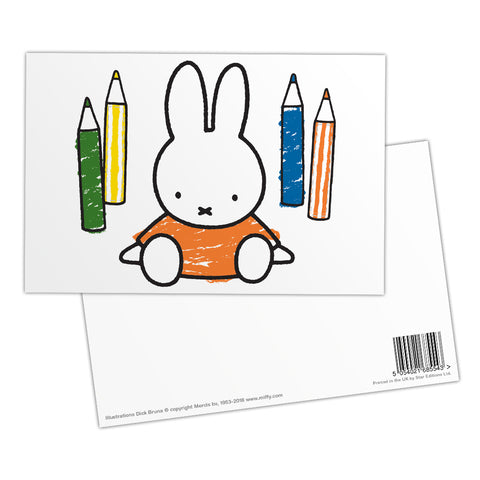 Miffy Colouring Pencils Postcard