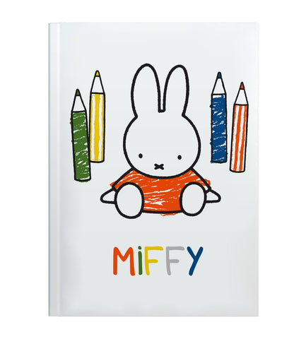 Miffy Colouring Pencils Perfectbound A5 Notebook