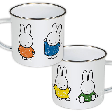 Miffy Coloured Dresses Enamel Mug