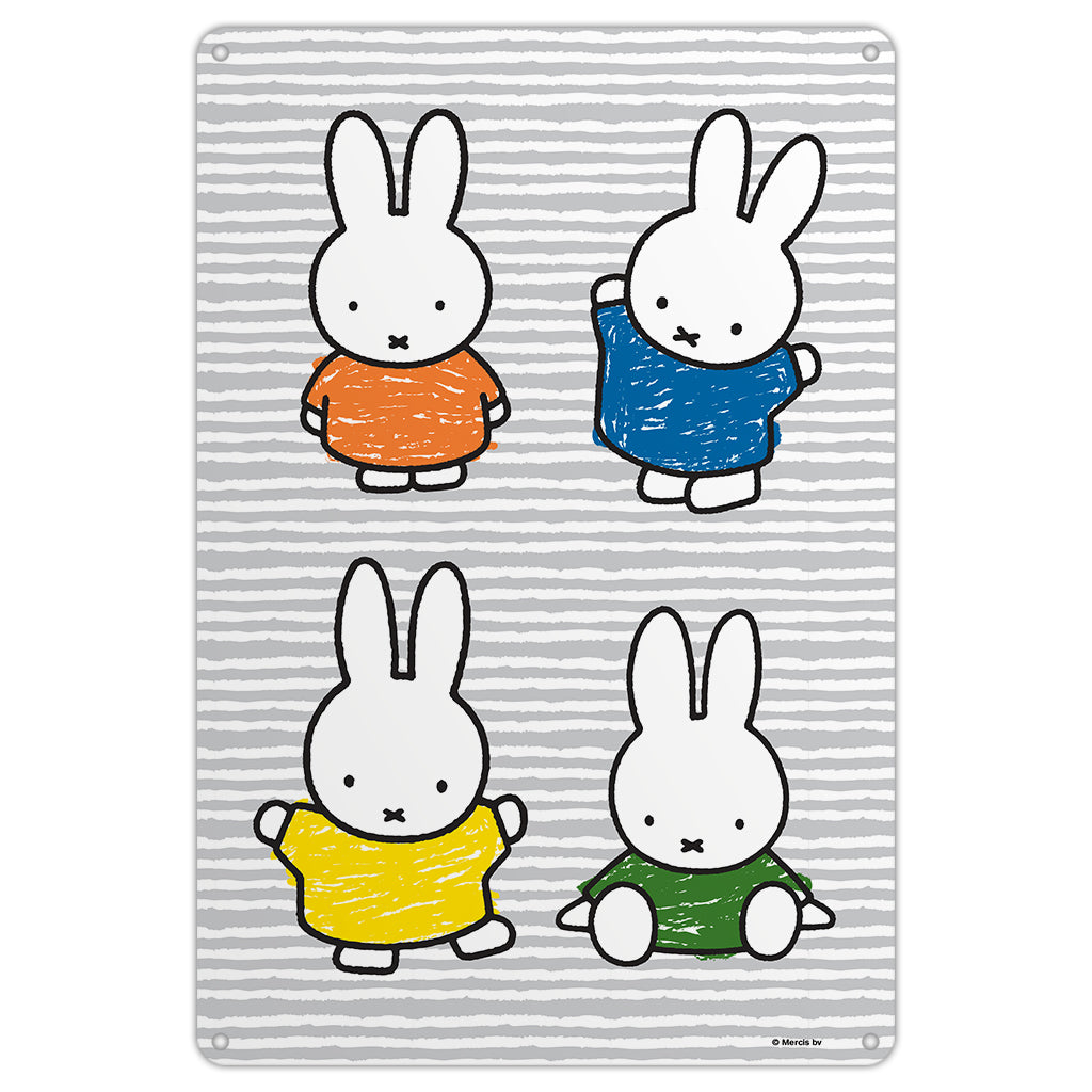 Miffy Coloured Dresses Metal Sign