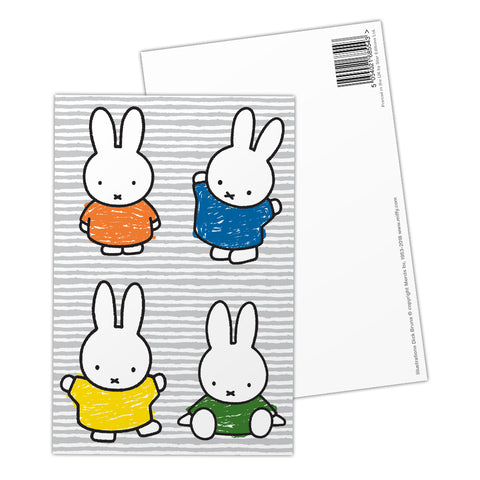 Miffy Coloured Dresses Postcard
