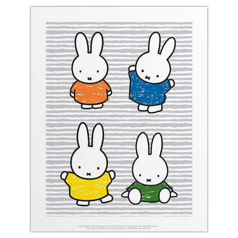 Miffy Coloured Dresses Mini Poster
