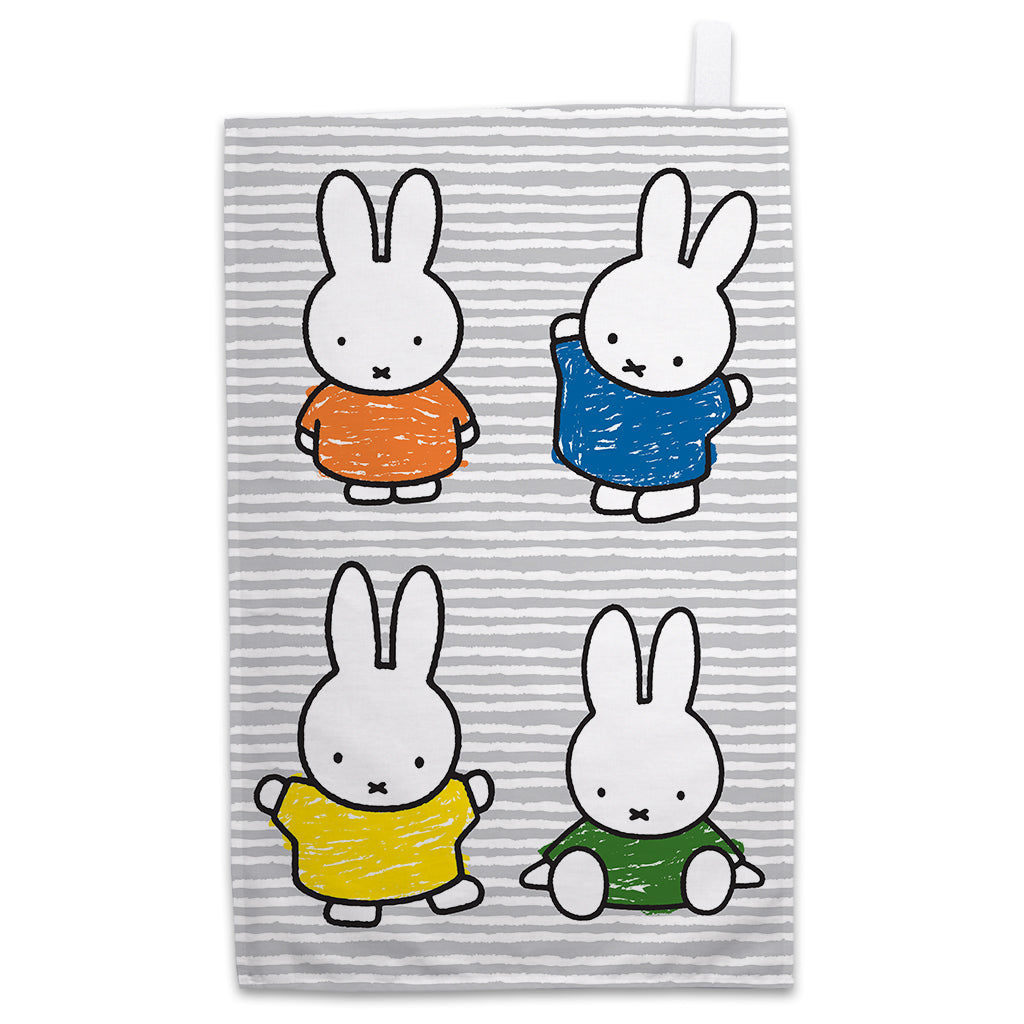 Miffy Coloured Dresses Tea Towel