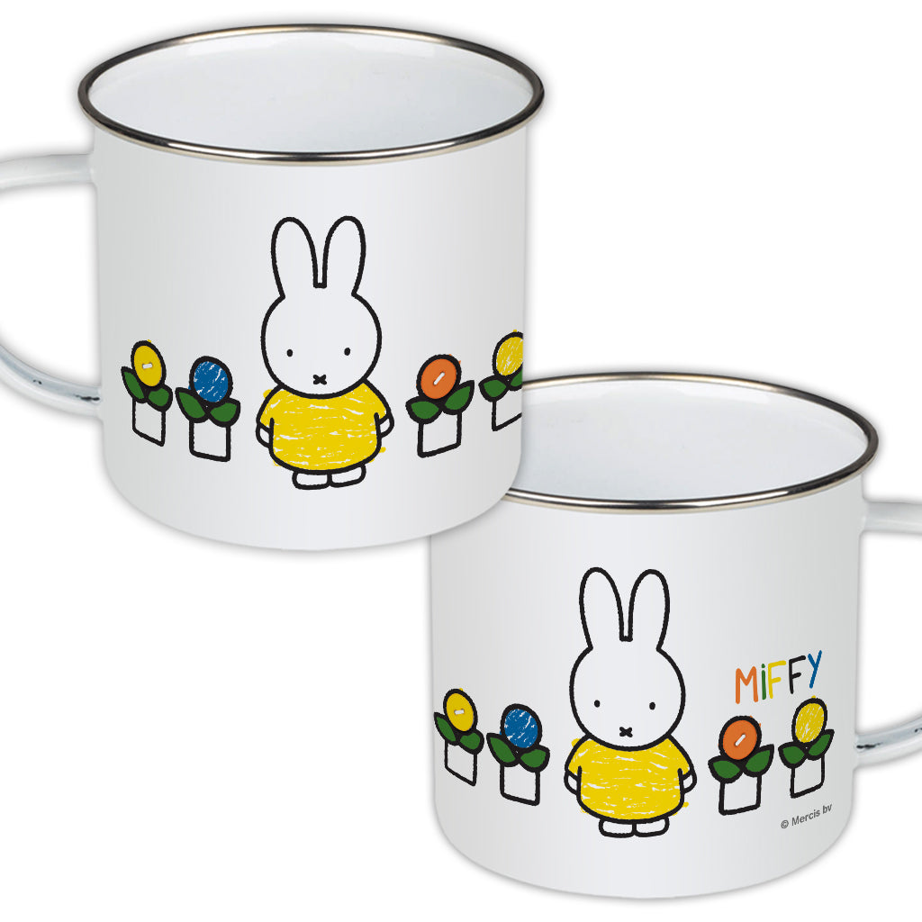 Miffy Yellow Dress Enamel Mug