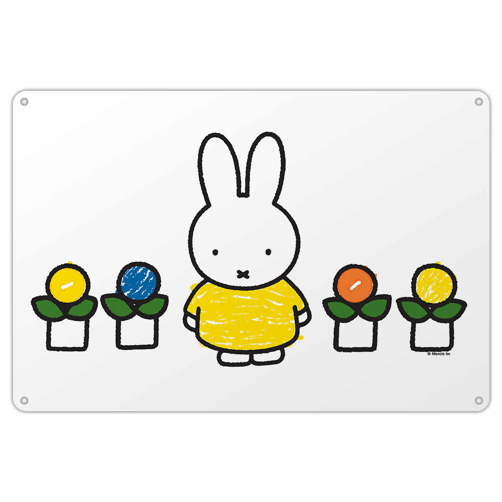 Miffy Yellow Dress Metal Sign