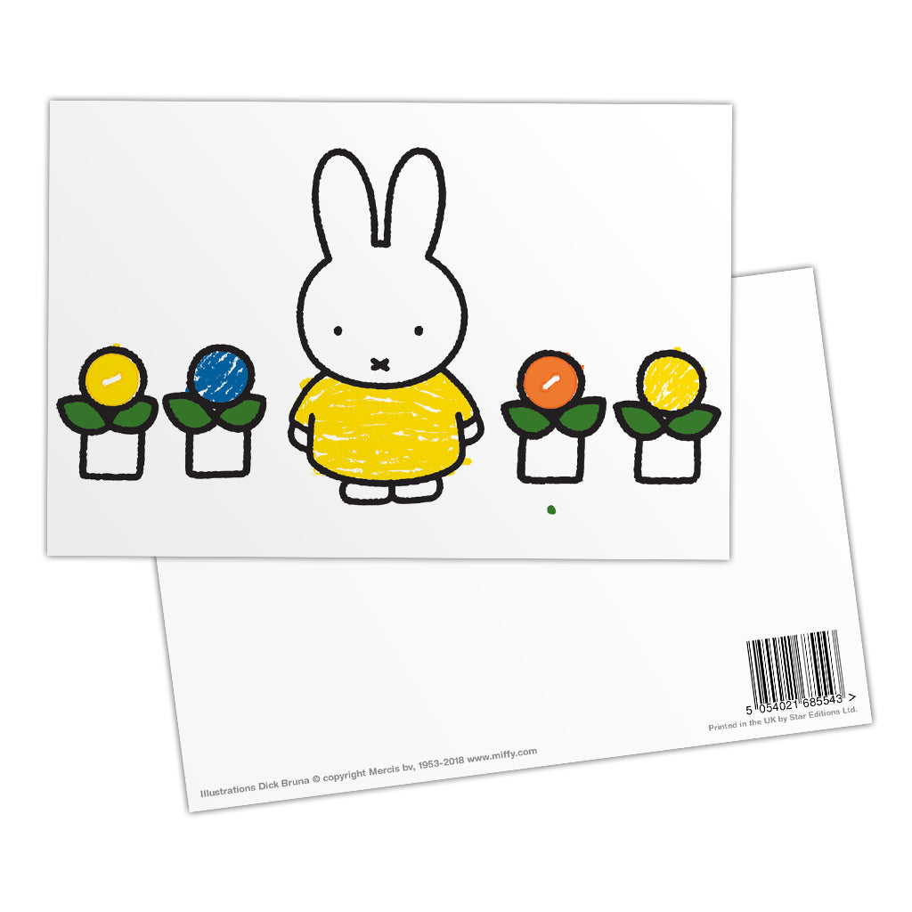 Miffy Yellow Dress Postcard