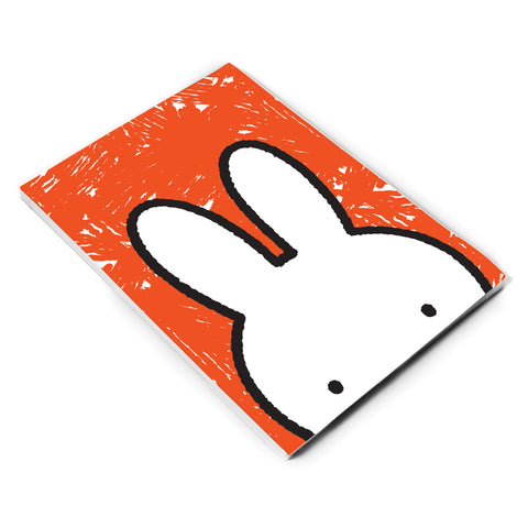 Miffy Eyes Orange Background A6 Notepad