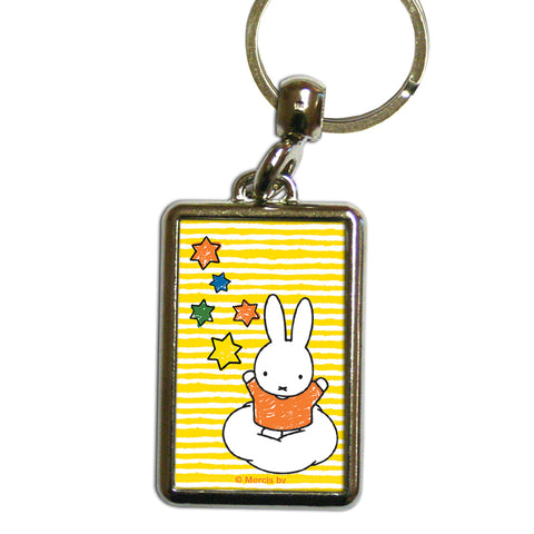 Miffy Stars Metal Keyring