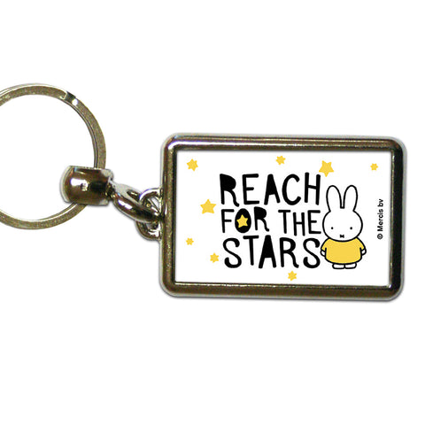 Miffy Reach for the Stars Metal Keyring