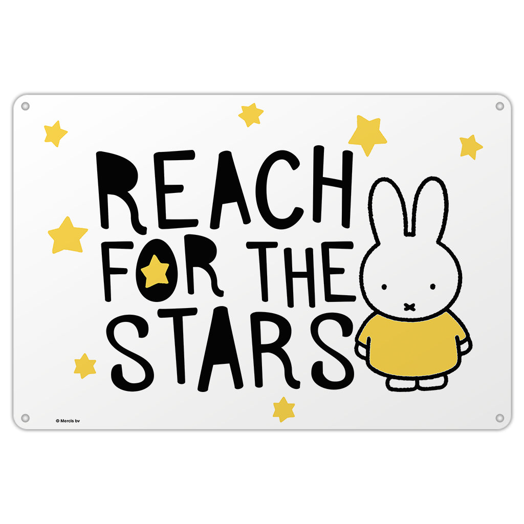Miffy Reach for the Stars Metal Sign
