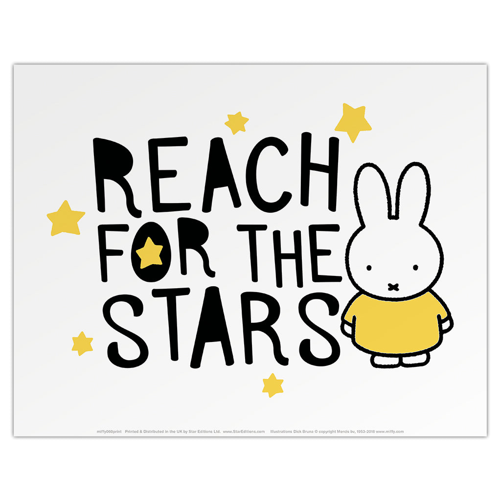 Miffy Reach for the Stars Mini Poster